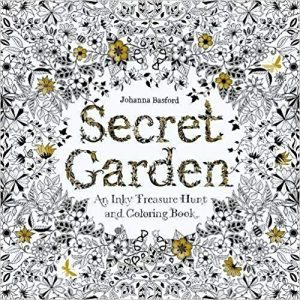 Secret Garden: An Inky Treasure Hunt and Coloring Book cover