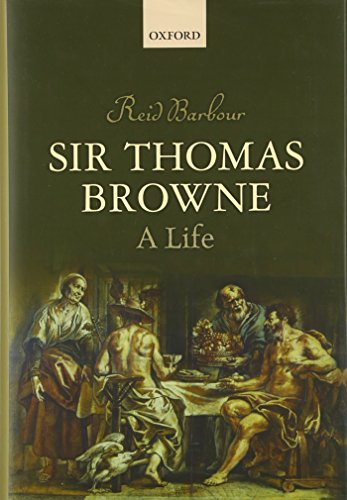 Sir Thomas Browne: A Life cover