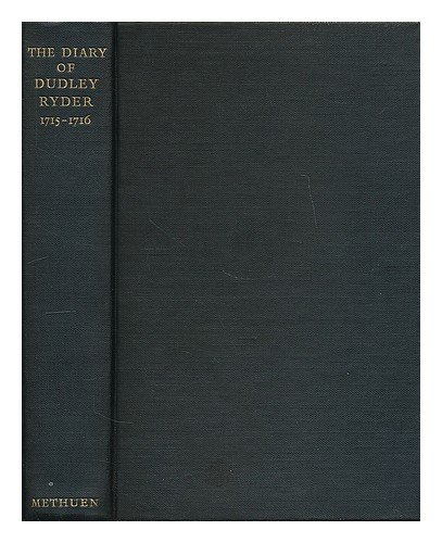 The Diary of Dudley Ryder cover