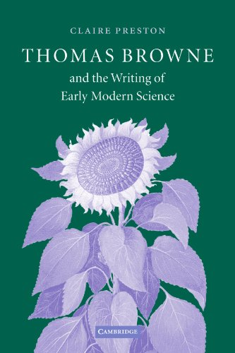 Thomas Browne and the Writing of Early Modern Science cover