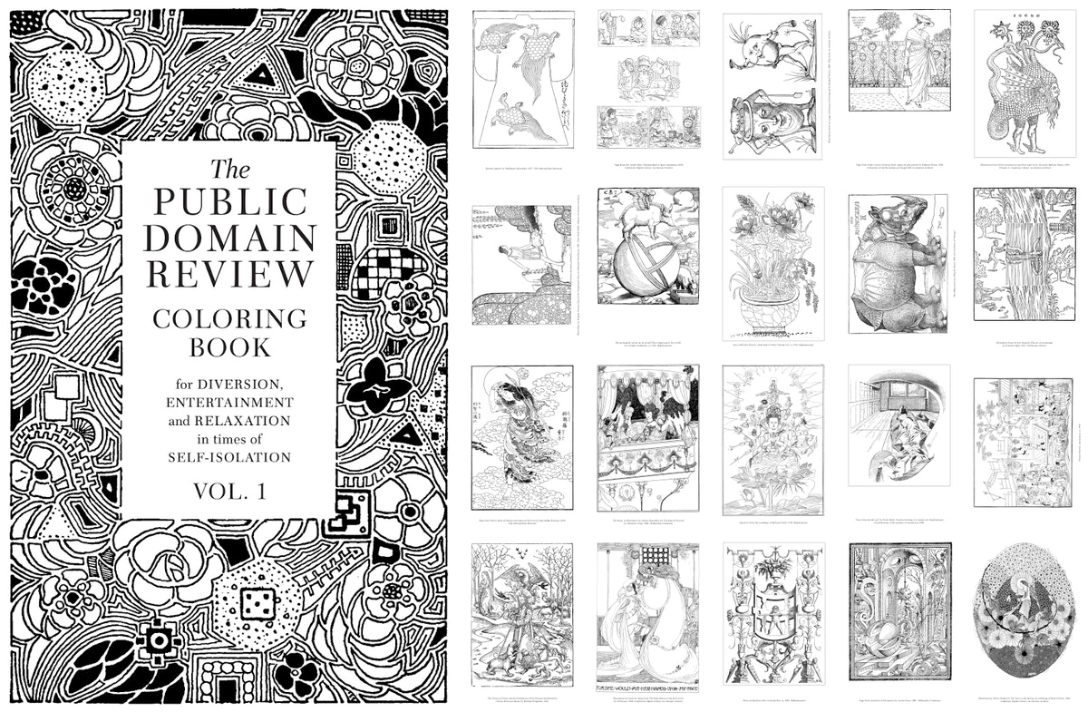 public domain review colouring book