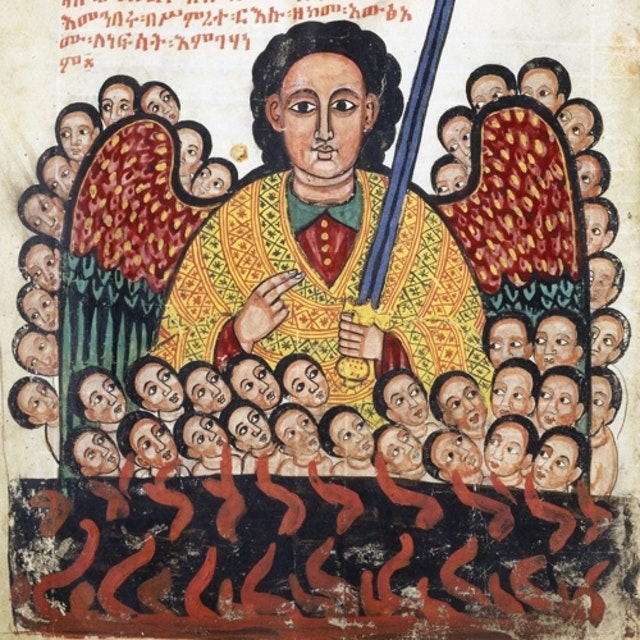 17th century Ethiopian manuscript: the miracles of the archangel Michael
