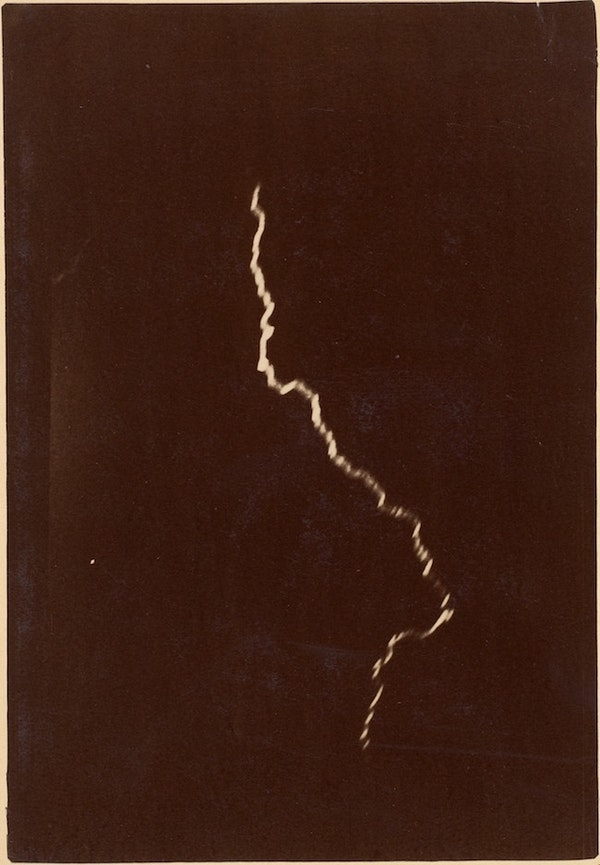 early photo of lightning Charles Moussette