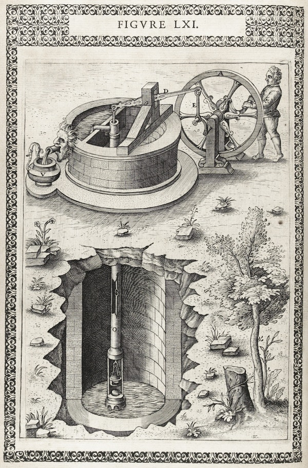 Illustration from Ramelli's *Diverse and artificial machines