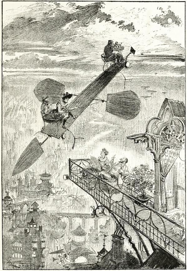 Illustration from La vie électrique