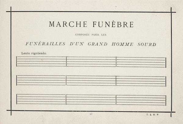 blank score from Allais' album
