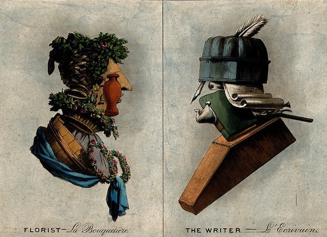 Arcimboldo-esque Composite Portraits of Trades (ca. 1800)