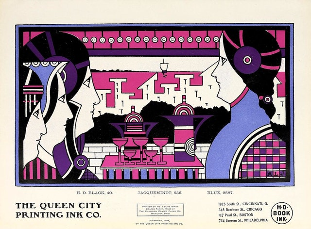 Augustus Jansson's Queen City Ink Adverts (1903–1907)