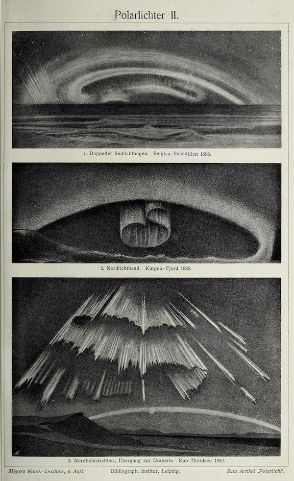 illustration of aurora borealis northern lights