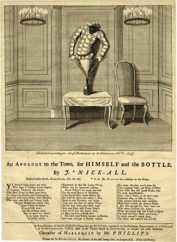 bottle conjuror cartoon