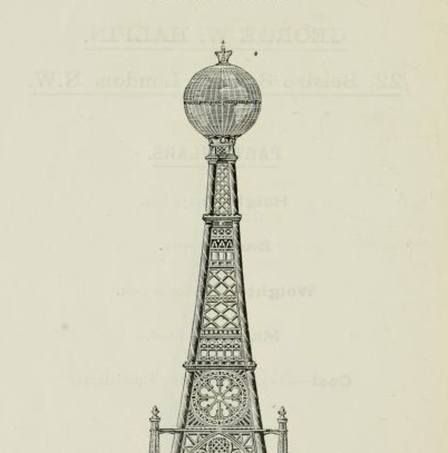 Catalogue of the 68 competitive designs for the great tower for London (1890)