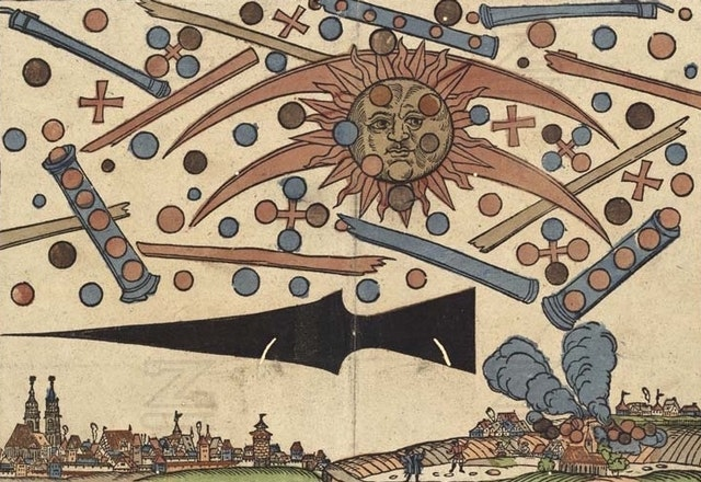 Celestial Phenomenon Over Nuremberg, April 14th, 1561