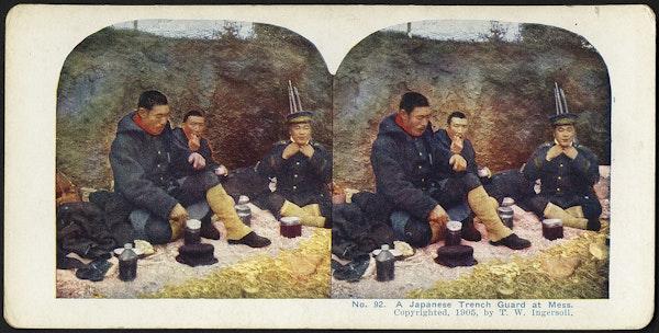 A Japanese trench guard at mess