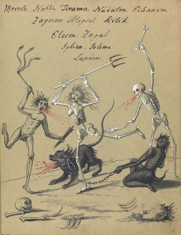 L0076359 A compendium about demons and magic. MS 1766.