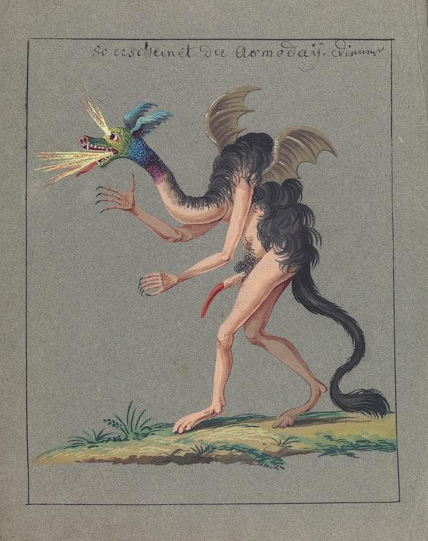 L0076384 Illustration of a hybrid monster.