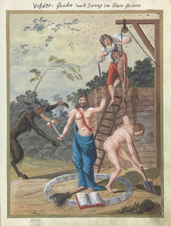 L0076361 A compendium about demons and magic. MS 1766.