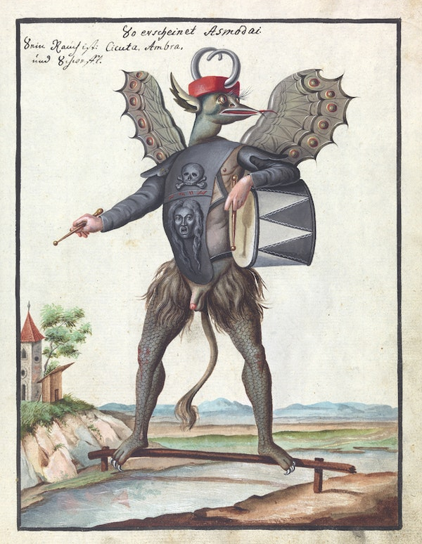 L0076365 Illustration of Asmodai (MS 1766)