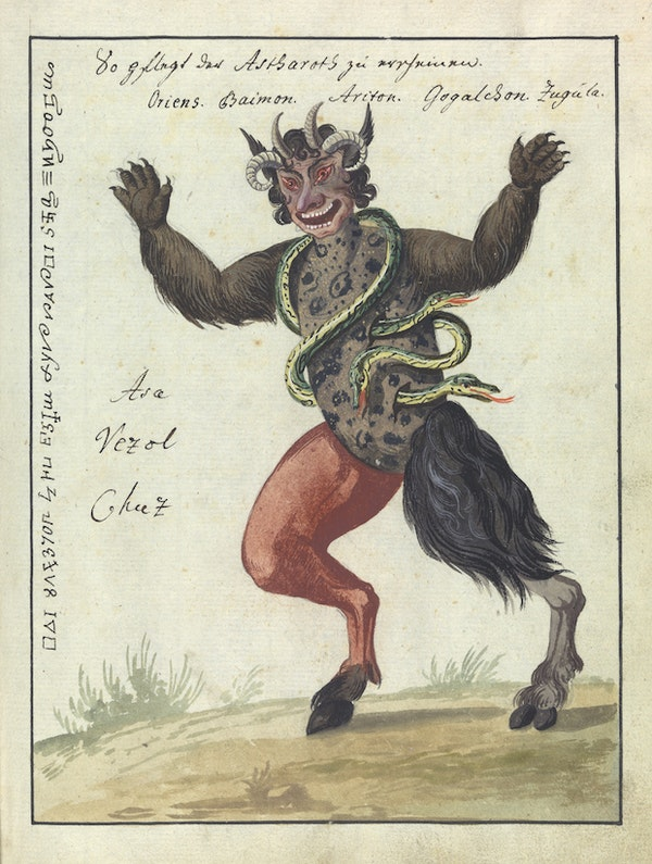 L0076360 A compendium about demons and magic. MS 1766.