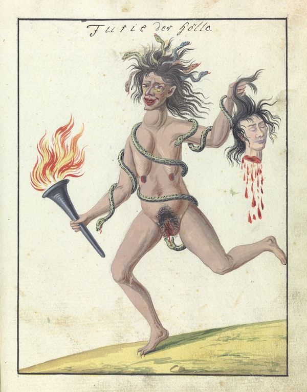 L0076375 A compendium about demons and magic. MS 1766.