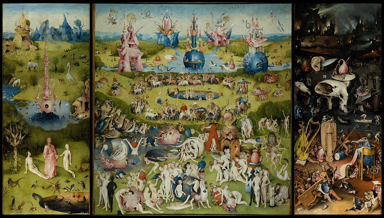 Details from Bosch\u0027s Garden of Earthly Delights (ca. 1500