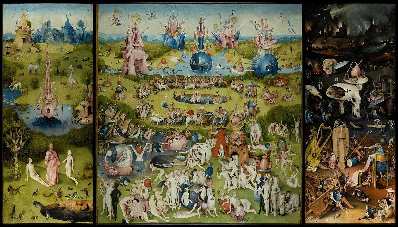 Details from Bosch\u0027s Garden of Earthly Delights (ca. 1500