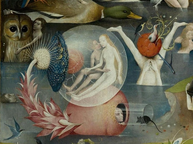 Details from Bosch's Garden of Earthly Delights (ca. 1500)