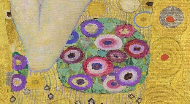 Details from Gustav Klimt's The Kiss (1908)