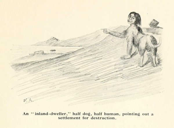 illustration of eskimo folktale