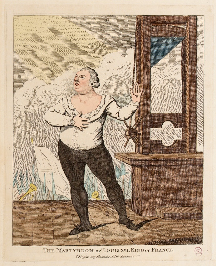 illustration execution guillotine Louis XVI