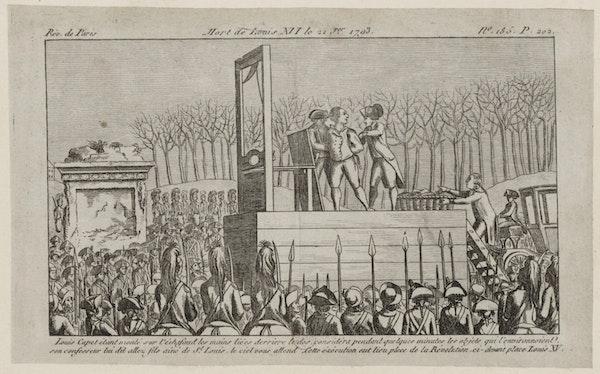 illustration execution guillotine Louis XVI