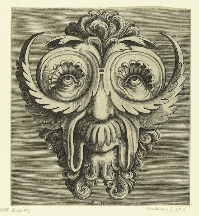 Flemish Mask Designs in the Grotesque Style (1555)
