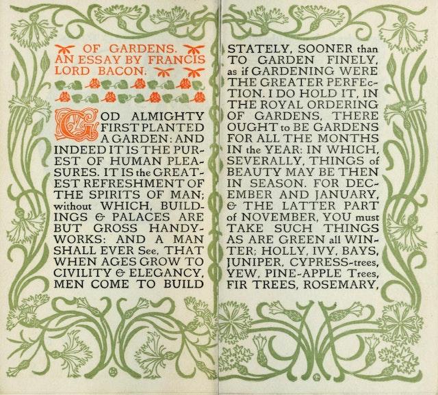 Francis Bacon on Gardens (1902)