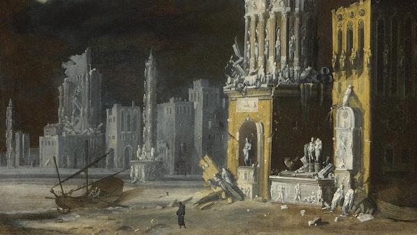 Francois de Nome painting of ruins