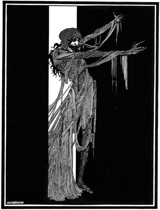 Harry Clarke, illustration for The Fall of the House of Usher in: Tales of Mystery and Imagination, Edgar Allan Poe, 1919.
