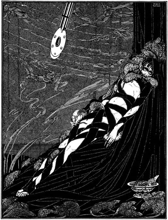 Harry Clarke, illustration for The Pit and the Pendulum, in: Tales of Mystery and Imagination, Edgar Allan Poe,