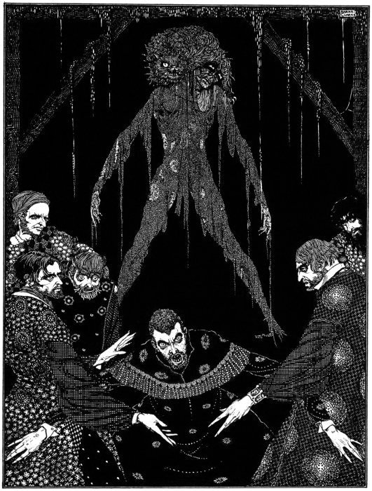 Harry Clarke, illustration for The Black Cat, Tales of Mystery and Imagination, Edgar Allan Poe, 1919