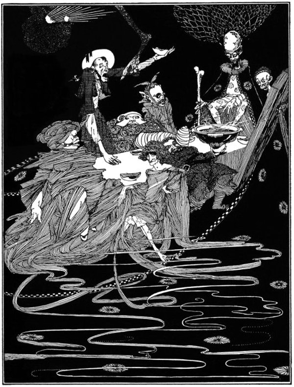 Harry clarke illustration for edgar allan poe tales of mystery and imagination