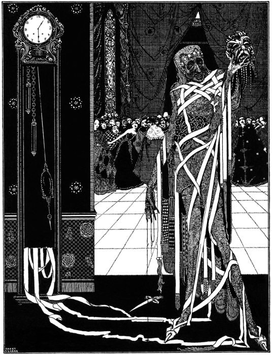 Harry Clarke, Illustration for The Masque of the Red Death