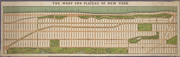 The West End Plateau of the city of New York, 1879