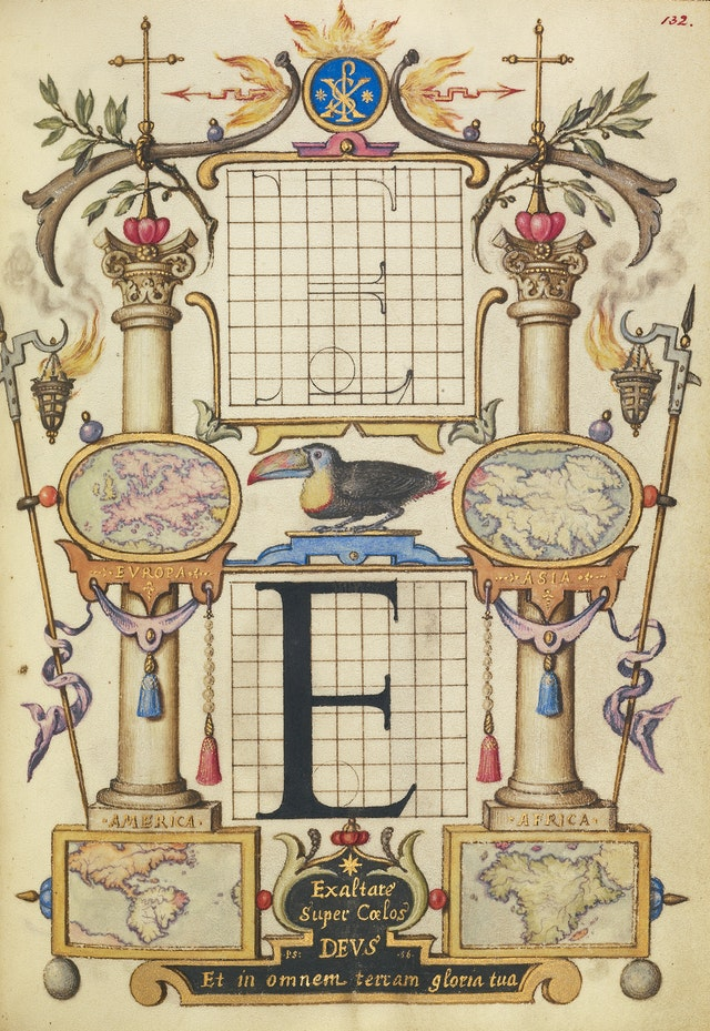 Hoefnagel's Guide to Constructing the Letters (ca. 1595)