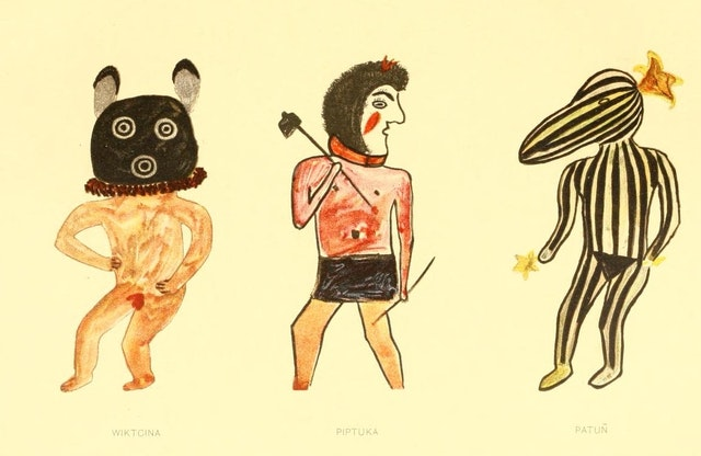 Hopi Drawings of Kachinas (1903)
