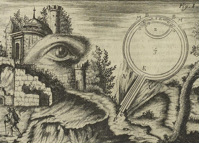 Images from Johann Zahn's Oculus Artificialis (1685)