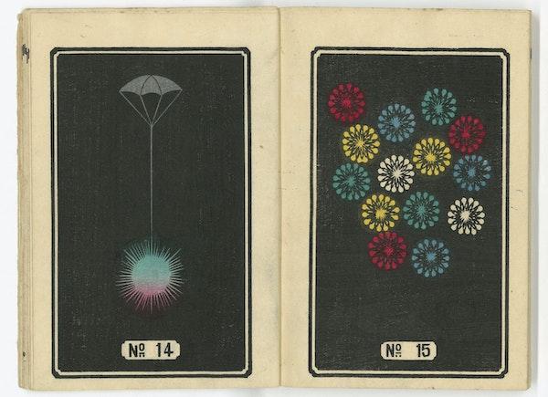 illustration of Japanese firework