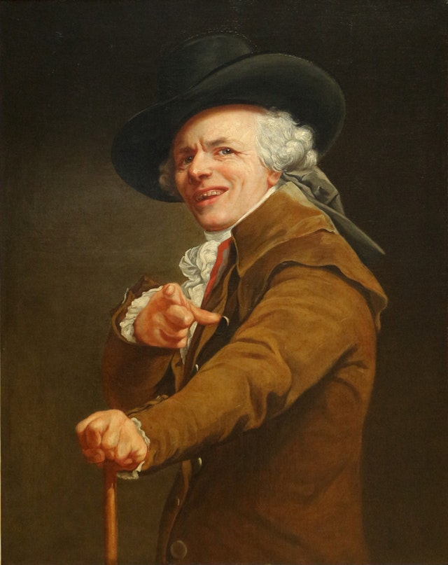 Joseph Ducreux's Self-Portraits (ca. 1790)
