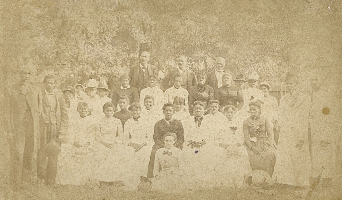 alt: old photo of juneteenth Emancipation Park houston
