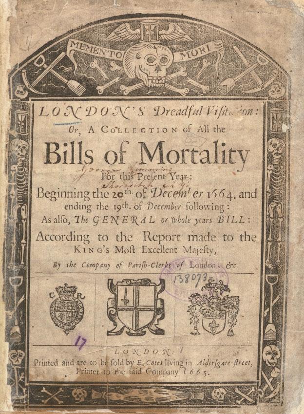 Bills of mortality london plague