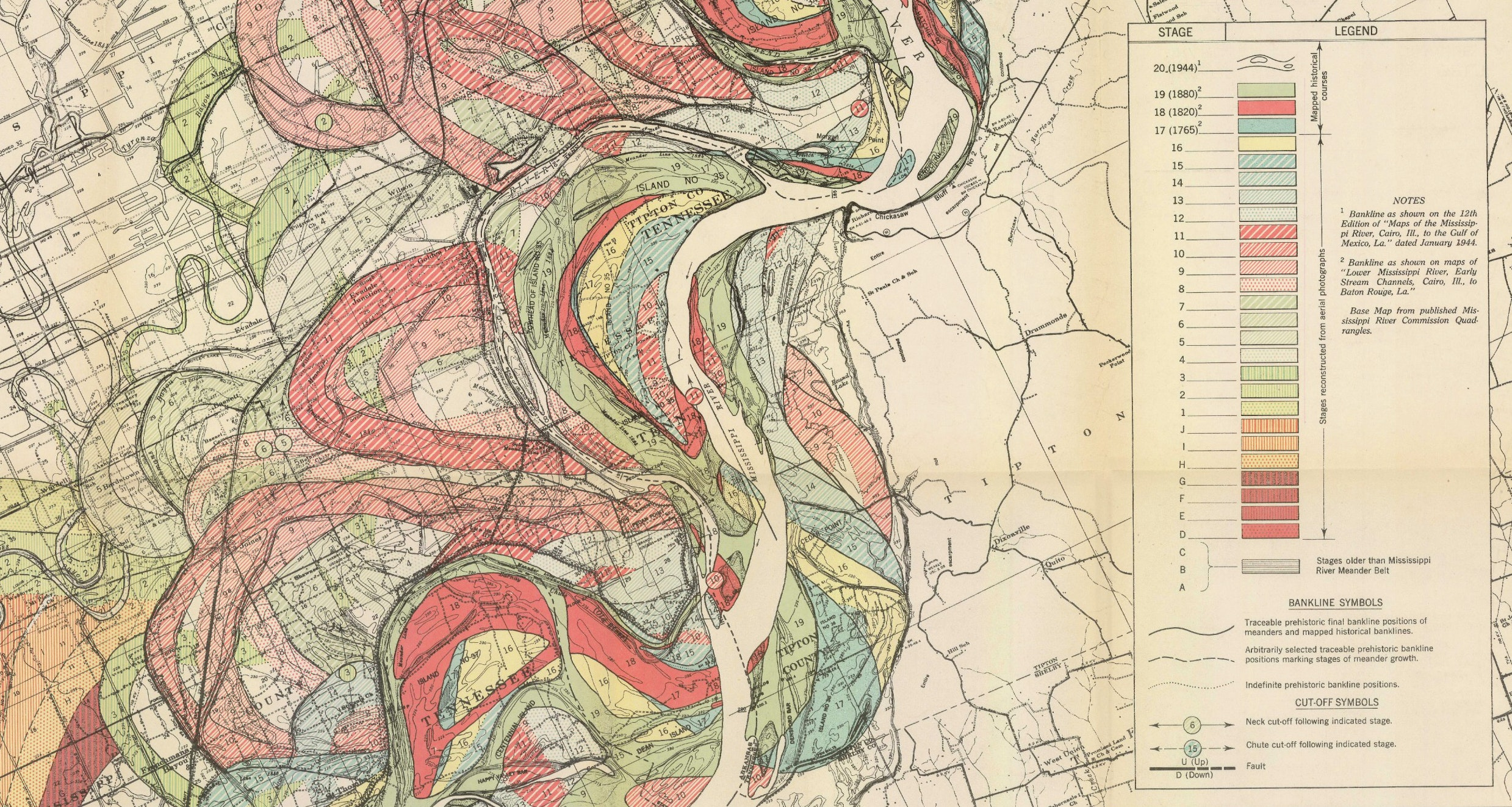 Picture of: Ancient Courses Harold Fisk S Meander Maps Of The Mississippi River 1944 The Public Domain Review