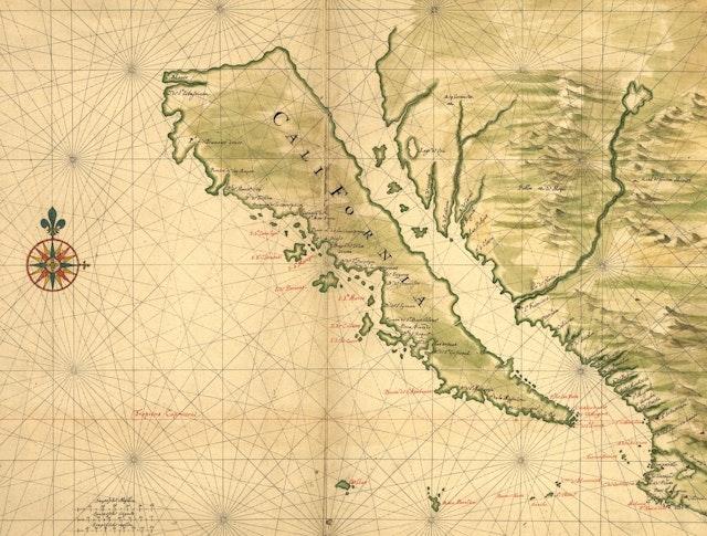 Maps Showing California as an Island