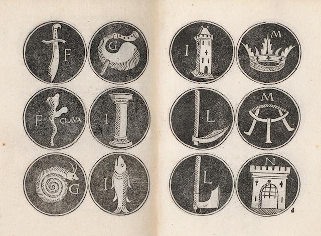Mnemonic Alphabet of Jacobus Publicius (1482)