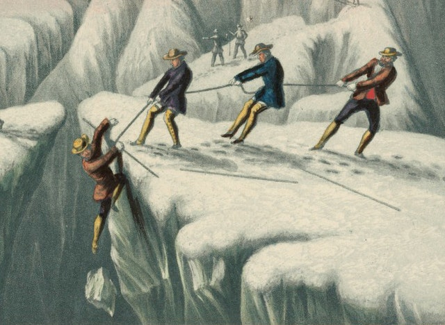 *The Ascent of Mont-Blanc* (ca. 1855)